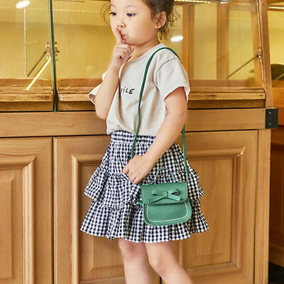 Child Girl Princess Bow Leather Handbag Crossbody Messenger Shoulder Bag Purse