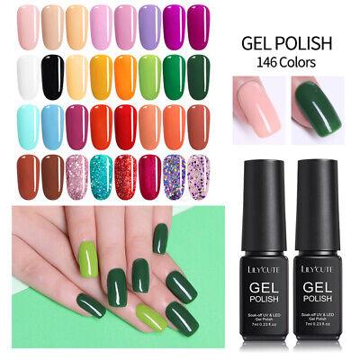 146Colors LILYCUTE Gel Nail Art Polish Soak Off UV LED Gel Nail Varnish Tool 7ml 6