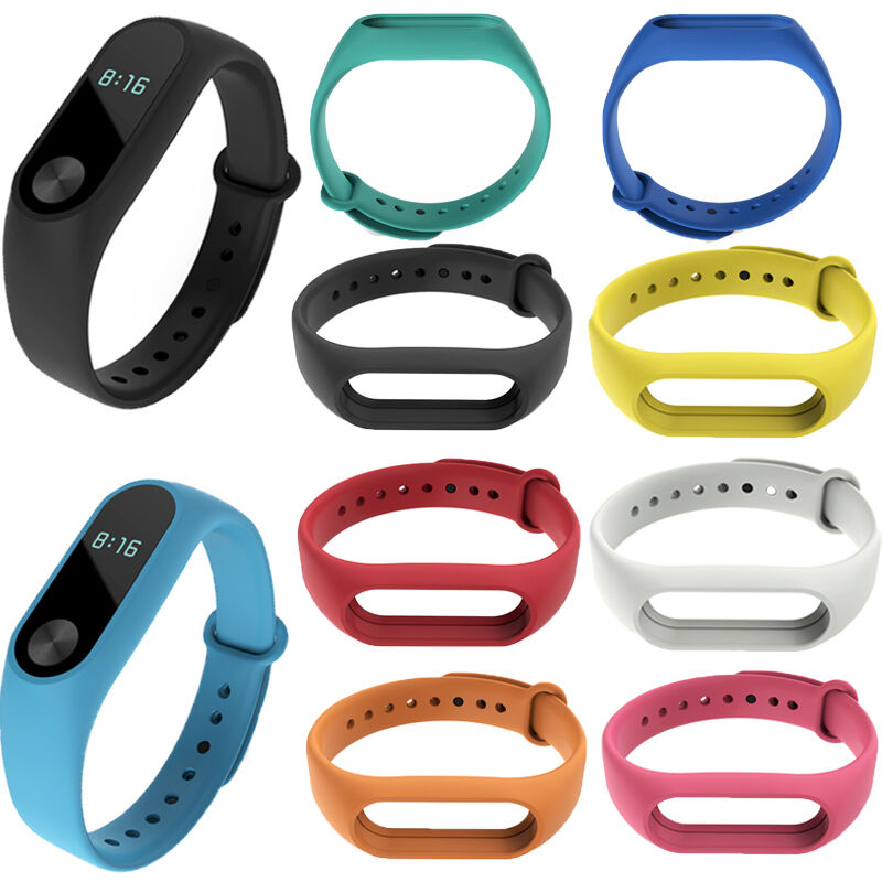 Silicone Wrist Strap Fitness Band with Clasp For Xiaomi Mi Band Miband 2 Tracker 6