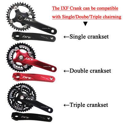 IXF 104//64BCD MTB Cycling Crank 170mm Aluminium Crankset 24mm Spindle Sealed BB