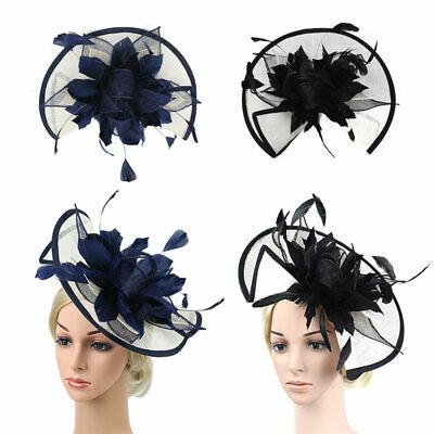 Feather Flower Hair Clip Women Vintage Fascinator Wedding Vintage Headpiece 4