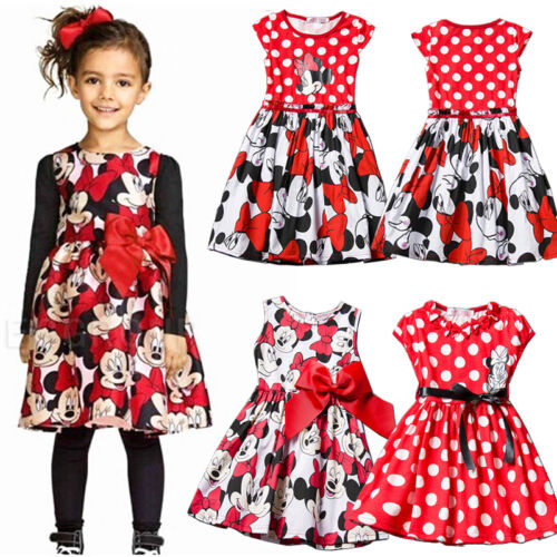 Kids Baby Girls Princess Dress Summer Tutu Party Cartoon Tunika Sundress Clothes 3