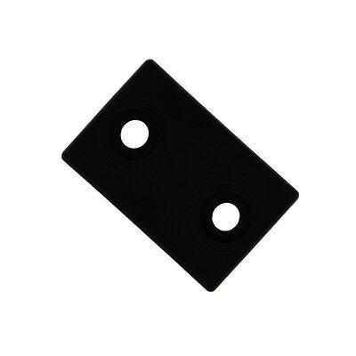 Schalengleiter für C-Rohre Breite 30mm schwarz Zapfen Stuhl Gleiter Fussstopfen