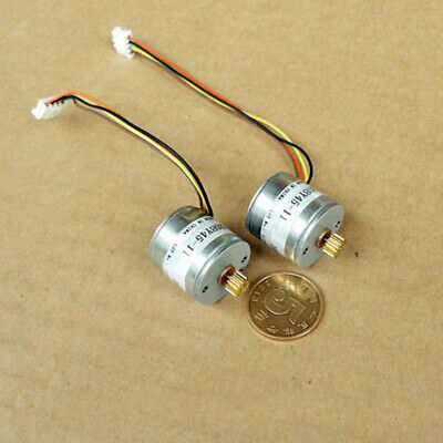20BY45 Micro 20mm 2-phase 4-wire Precision Stepper Motor 18 Deg 14T Copper Gear 10