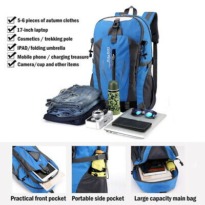 40 Liter Waterproof Outdoor Sports Bag Backpack Travel Hiking Camping Rucksack 11
