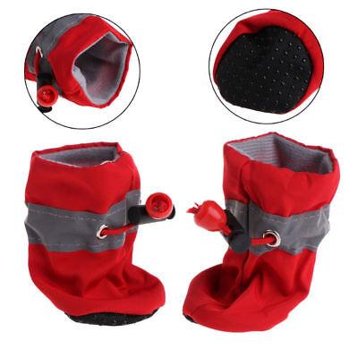 4Pcs/set Dog Boots Shoes Anti Slip Waterproof Puppy Rain Pet Small Cat Pet Socks 4