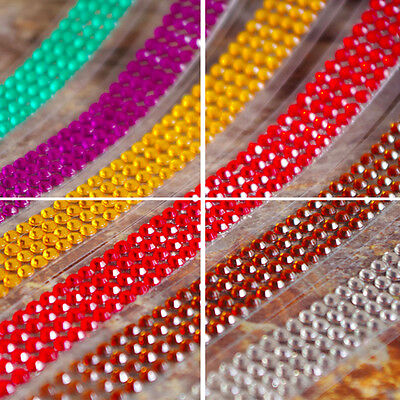 Self-Adhesive AS Acrylic Rhinestones Stick Crystal Sticker Tape Book Decor Hot 3
