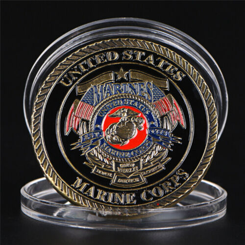 US Marine Corps Gold Plated Coin Collection Art Gift Commemorative CoinsGiftsC!C 4