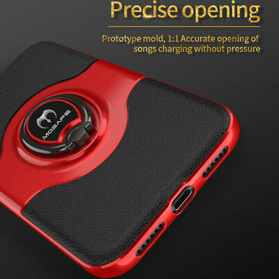 For iPhone XS Max XR X 7 8 Plus Ring Stand Shockproof Hybrid Hard Case Cover 9