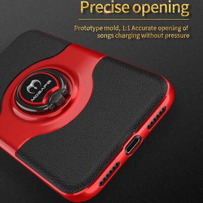 For iPhone XS Max XR XS X Ring Magnetic Shockproof Hybrid TPU Bumper Case Cover 9