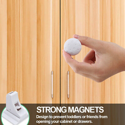 Magnetic Cabinet Locks For Child Baby Proof Safety Cupboard Door Drawer Kitchen 8