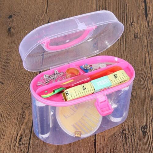 Home Travel Thread Threader Needle Tape Measure Scissor Storage Box Sewing Kit 7