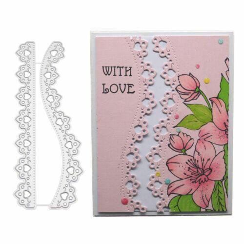 2pcs Lace Cutting Dies DIY Stencil Scrapbooking Album Paper Card Embossing Craft 3