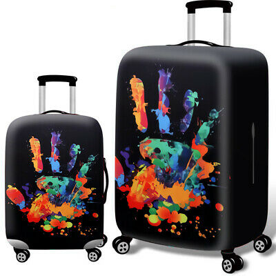 Printed Travel Suitcase Protective Cover Luggage Protector Elastic Dust proof 11