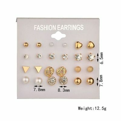 Wholesale A Set Of 12 Pairs Multi-Style Earrings Ear Stud Allergy Free UK