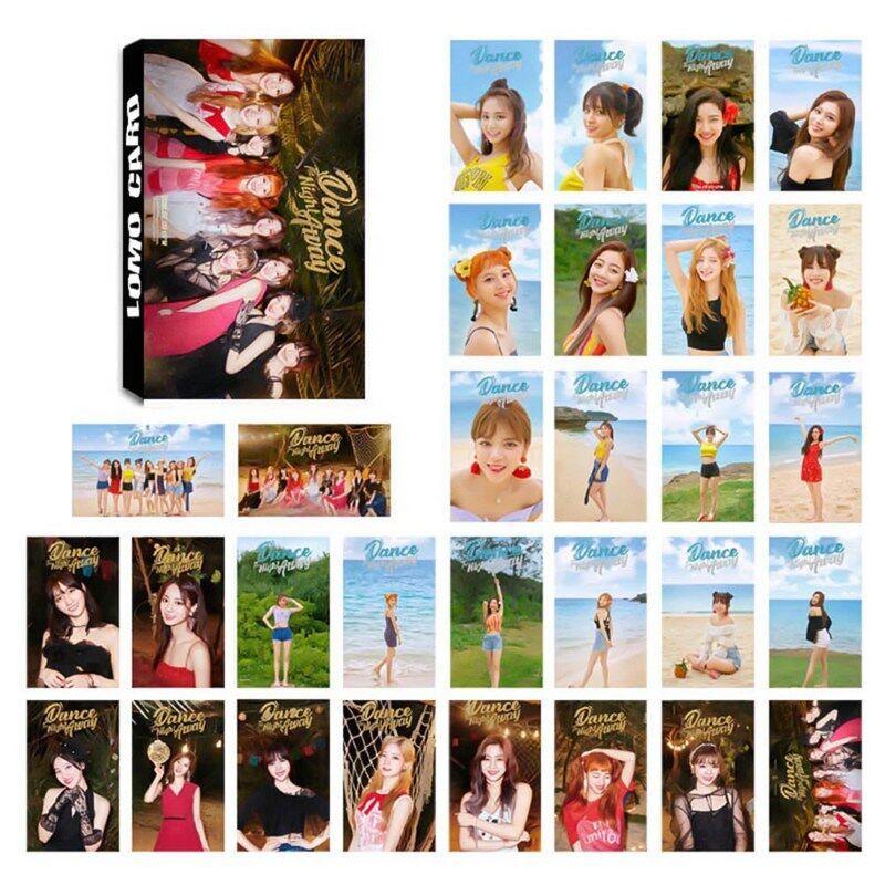 30pcs / Juego Kpop Blackpink Twice Mini Foto Tarjeta Póster Lomo HD Fotográficas 4