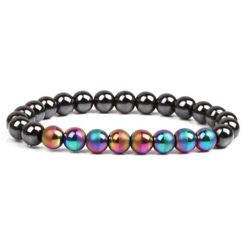Hématite magnétique Pierre perles soins de santé bracelet bijouWLZZ