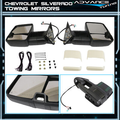 For Painted 02-07 Silverado Towing Mirrors Power Heated Signal Arrow Light LH RH