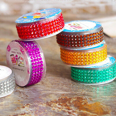 Self-Adhesive AS Acrylic Rhinestones Stick Crystal Sticker Tape Book Decor Hot 7