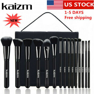 15pcs/set Professional Cosmetic Makeup Brush Foundation Brushes with Bag Case 2