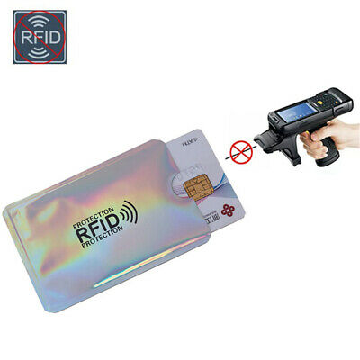 10pcs RFID Blocking Sleeve Credit Card Protector Bank Card Holder for Wallets 10