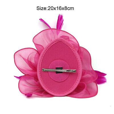 UK Feather Flower Headband Alice Band Fascinator Womens Wedding Race Royal Ascot 2
