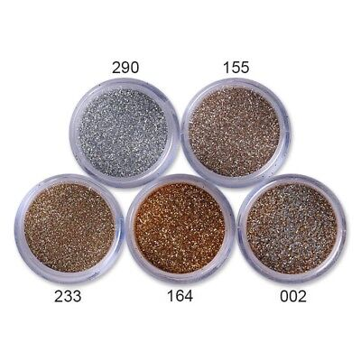 Nail Glitter Sequins Powder Rose Gold Nail Art White Silver Mixed  3D Decoration 12