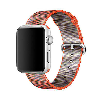 Genuine Apple Woven Nylon for Apple Watch 42mm Space Orange/Anthracite MNKF2AM/A