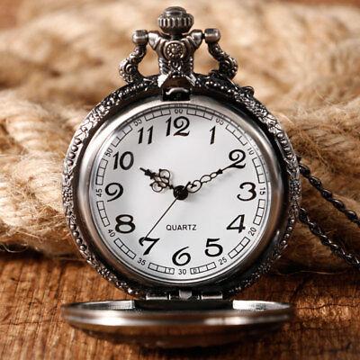 Game of Thrones Stark House Crest Wolf Cool Quartz Pocket Watch Necklace Chain 3