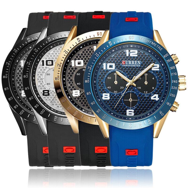 Curren Luxury Watch Men's Sports Military Army Fashion Quartz Analog Wrist Watch 3