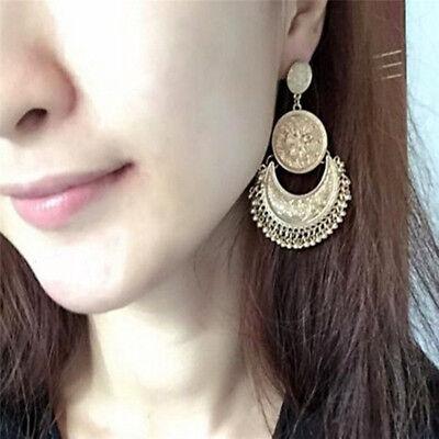 Retro Vintage Antique Mesh Hollow Out Filigree Geometric Hoop Earrings For Women 7