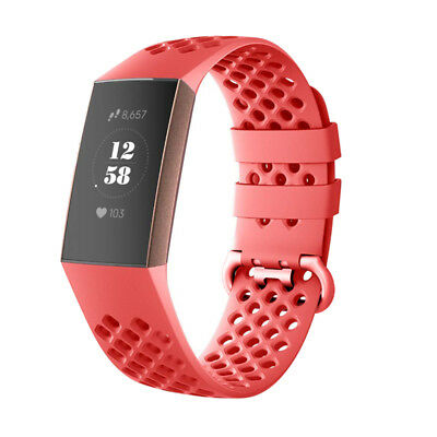 For Fitbit Charge 3 Watch Band Replacement Silicone Breathable Wrist Bracelet 9