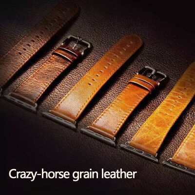 Genuine Leather Strap Band for iWatch Apple Watch 3 2 1 38mm/40mm 42mm/44mm 5