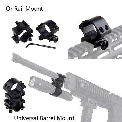 """45°& 1"""" 25.4mm Ring QD Clamping Mount 20mm Rail Fr Hunt Flashlight Laser Shotgun 2"""