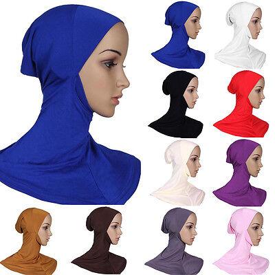Mussulmano Cotone Pieno Copertura Hijab Interna Cappellini Islamico Stretto 6