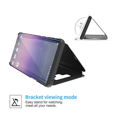 Mirror Flip Case Smart Stand Cover for Samsung Galaxy Note 10 Plus S7 S8 S9 S10+ 3