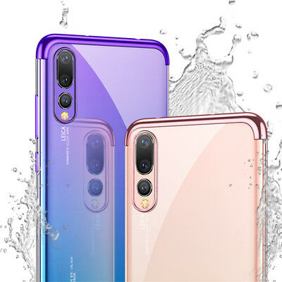 For Huawei P Smart 2019/ P30 P20 Lite Pro Plating Silicone Hybrid Case Cover 5