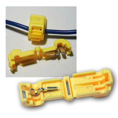 25 Stück Flachstecker gelb für T-Abzweigverbinder gelb 4,0-6,0 mm² Stecker