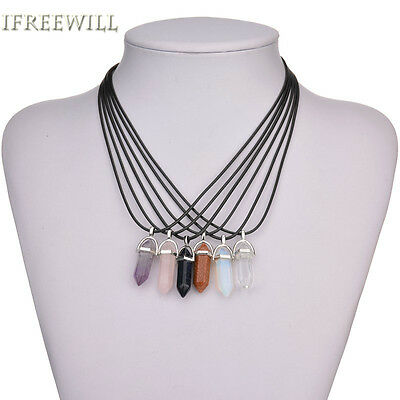 Crystal Pendant Necklace BUY 3 get 4th FREE Healing Crystal Pendant Point