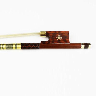 High quality! 4/4 Size Advanced Pernambuco performance Violin Bow Snakewood Frog 4