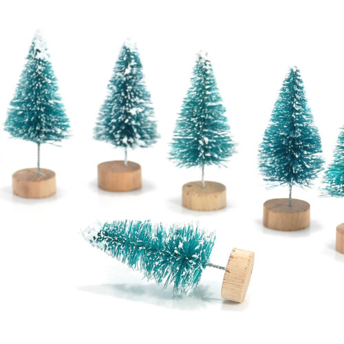 Cheap Christmas Trees Uk: WHOLESALE 12PCS MINI Sisal Bottle Brush Christmas Trees