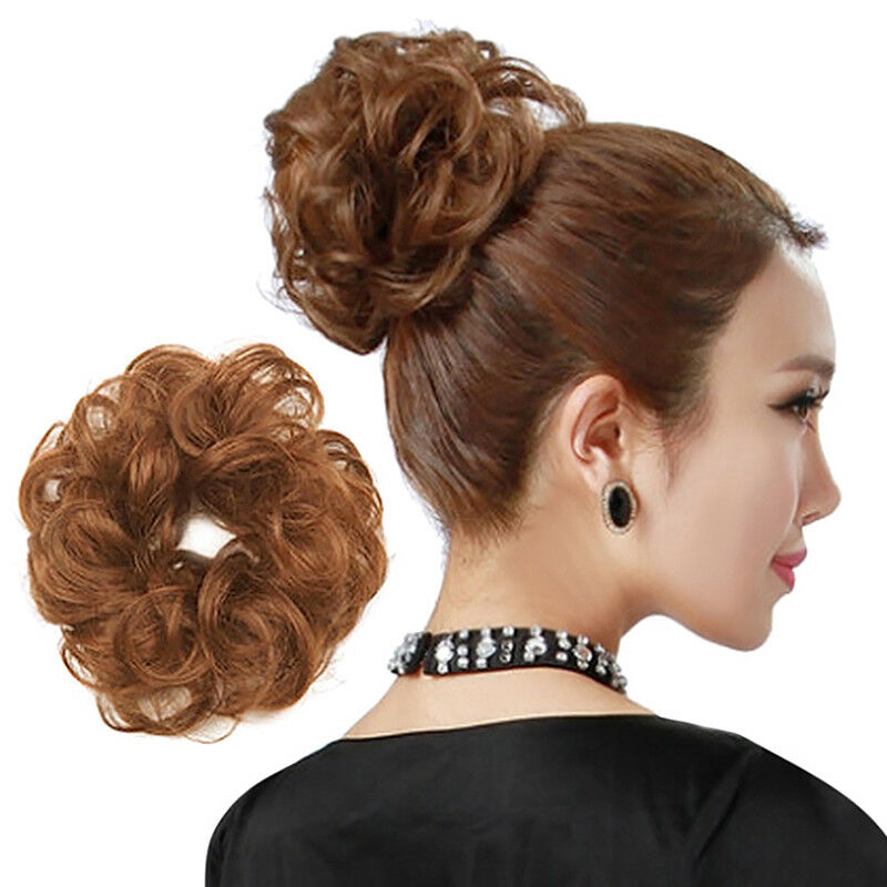 10 Colors Messy Bun Hair Piece Scrunchie Updo Cover Hair Extensions