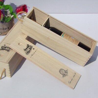 Retro Red Wine Box Portable Pine Wood Wine Storage Box Wine Bottle Gift Case 2