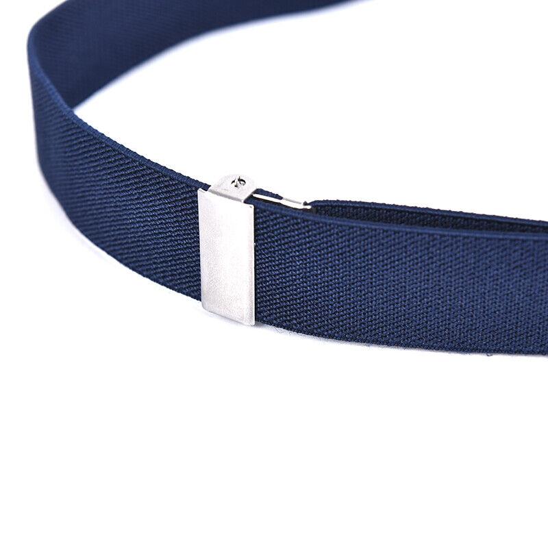 Children Solid Color Unisex Canvas Belts Boys Girls Elastic Belt Adjustable MC 12