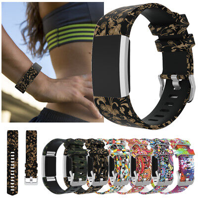 Bracelet Wrist Band Silicone Sports Strap For Fitbit Charge 2 /HR Smart Watch 4