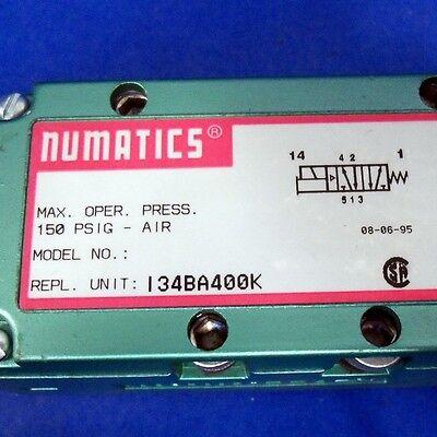 Numatics 150Psig-Air, 100-115/110-120V, 0.06A Solenoid Valve I34Ba400K *new* 3