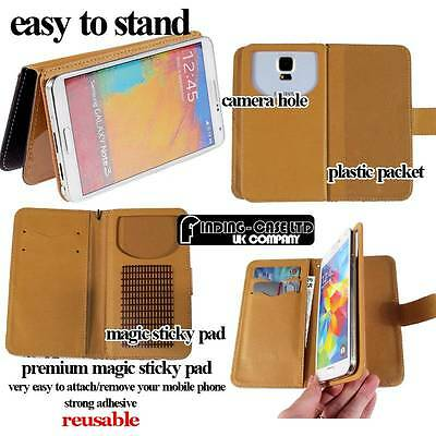 Universal Flip Wallet Card Leather Stand Mobile Phones Case Cover 3.0 - 6.0 inch