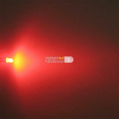 """10 LED diffus rot Typ /""""WTN-3-2400r/"""" 3mm rote DIFFUSE LEDs rojo rood red rouge"""