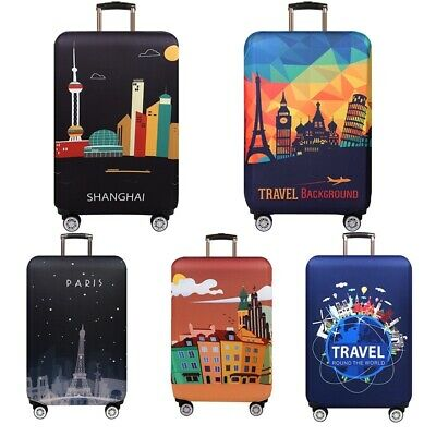 "18-32"" Elastic Travel Protective Luggage Cover Suitcase Dustproof Protector Case 2"