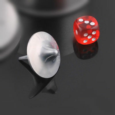 INCEPTION Gyro Metal Gyroscope Accurate Spinning Top Alloy Silver Dice Education 3